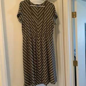 Olive and Grey Dress from Torrid size 2